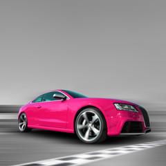 Deurstickers Snelle auto s Pinkes Auto
