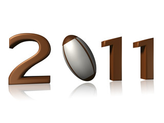 Big 2011 rugby logo on white background