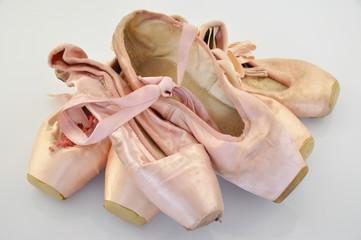 mehrere Ballettschuhe