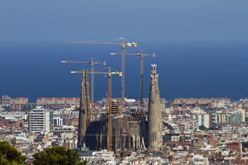 Sagrada Familia Barcelona Distant View