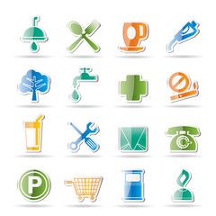 Petrol Station and Travel icons - Vector Icon Set