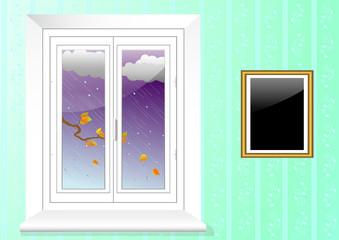 plastic window. vector 10eps.