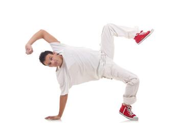 break dancer posing