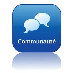 Bouton COMMUNAUTE (partage discussion forum groupes contacts)