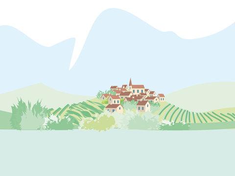 Village et vigne