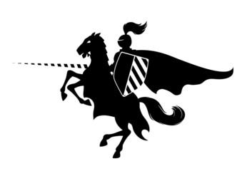 Printed kitchen splashbacks Knights Knight on horse