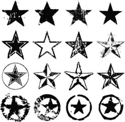 Grunge stars collection
