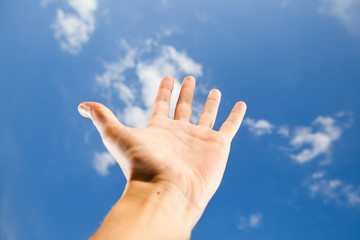 hand reach for the sky