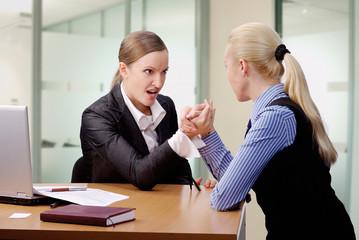 fight of businesswomen