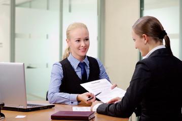 Businesswomen at office