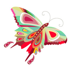 Stylized beautiful butterfly