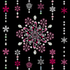 Abstract luxury snowflake