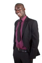Young black businessman