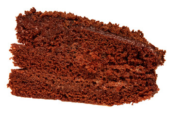 slice of chocolate cake with chocolate cream