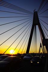 Fond de hotte en verre imprimé Pont Sunset and Anzac Bridge