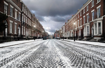 Street in Snow - Liverpool