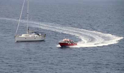 Yaht and boat.