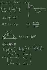 Blackboard with math formulas