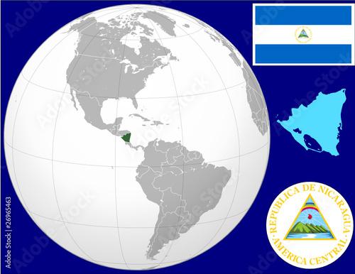 Nicaragua globe map locator world flag coat stock image and royalty nicaragua globe map locator world flag coat publicscrutiny Image collections
