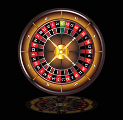 brown roulette wheel