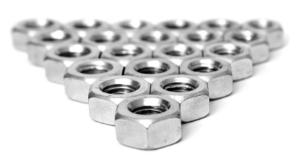 Layer of metal nuts