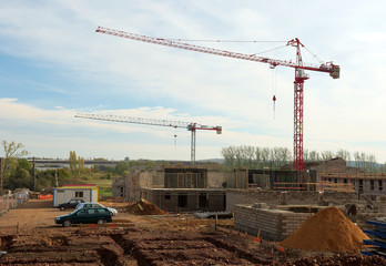 grand chantier de construction