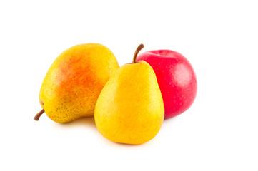 Fruits isolated on white background.