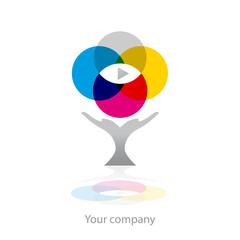 logo entreprise, oeil imprimeur