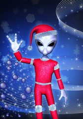 santa claus alien christmas