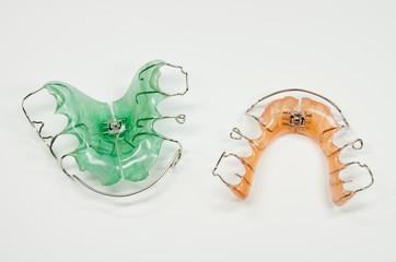 bunte Zahnspangen, Draufsicht
