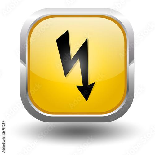strom gelb button stockfotos und lizenzfreie vektoren auf bild 26984299. Black Bedroom Furniture Sets. Home Design Ideas