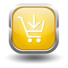 Einkaufswagen Gelb Button