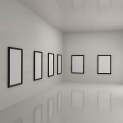 Paintings inside a gallery