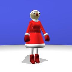 The girl Santa Claus or the Snow Maiden, 3d.