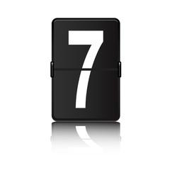 Panel de aeropuerto con numero 7