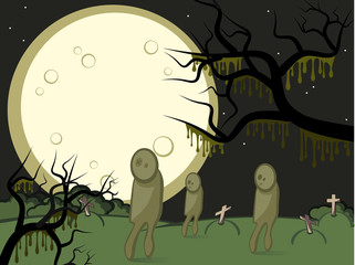 Moon and zombis