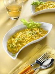 risotto à la crème de carotte et yaourt