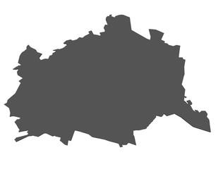 Karte von Wien - isoliert
