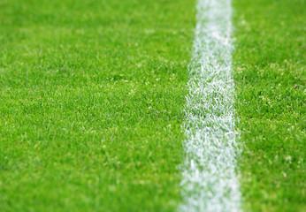 Fußball Rasen Seitenlinie rechts