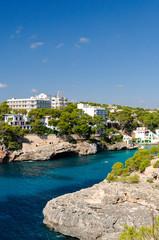 Fond de hotte en verre imprimé Piscine Bucht Cala Santanyi, Mallorca, Spanien