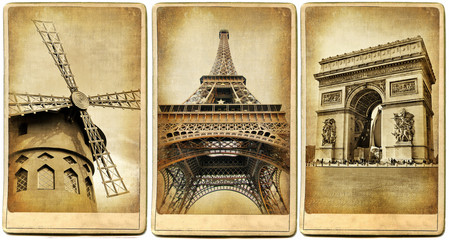 Fotomurales - Paris -  vintage photoalbum series