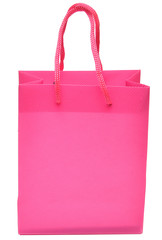 isolated shopping red bag