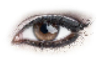 dots eye Wall mural