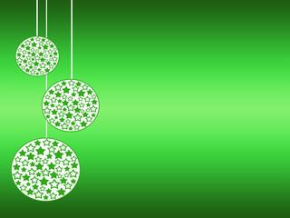 palline dell'albero di natale in tema verde