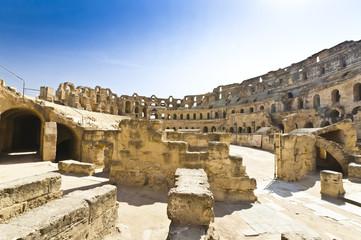 Roman Colosseum in Tunisia
