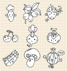 hand draw Vegetables element