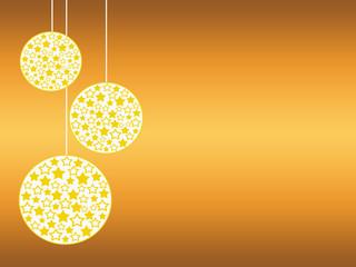 palline dell'albero di natale in tema giallo