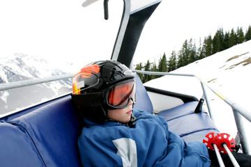 Boy on ski vacation