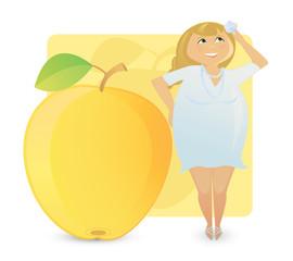 Women figure types: juicy apple