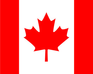 The state banner of Canada